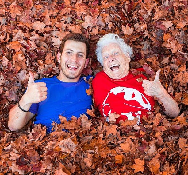 Ross Smith with Grandmother