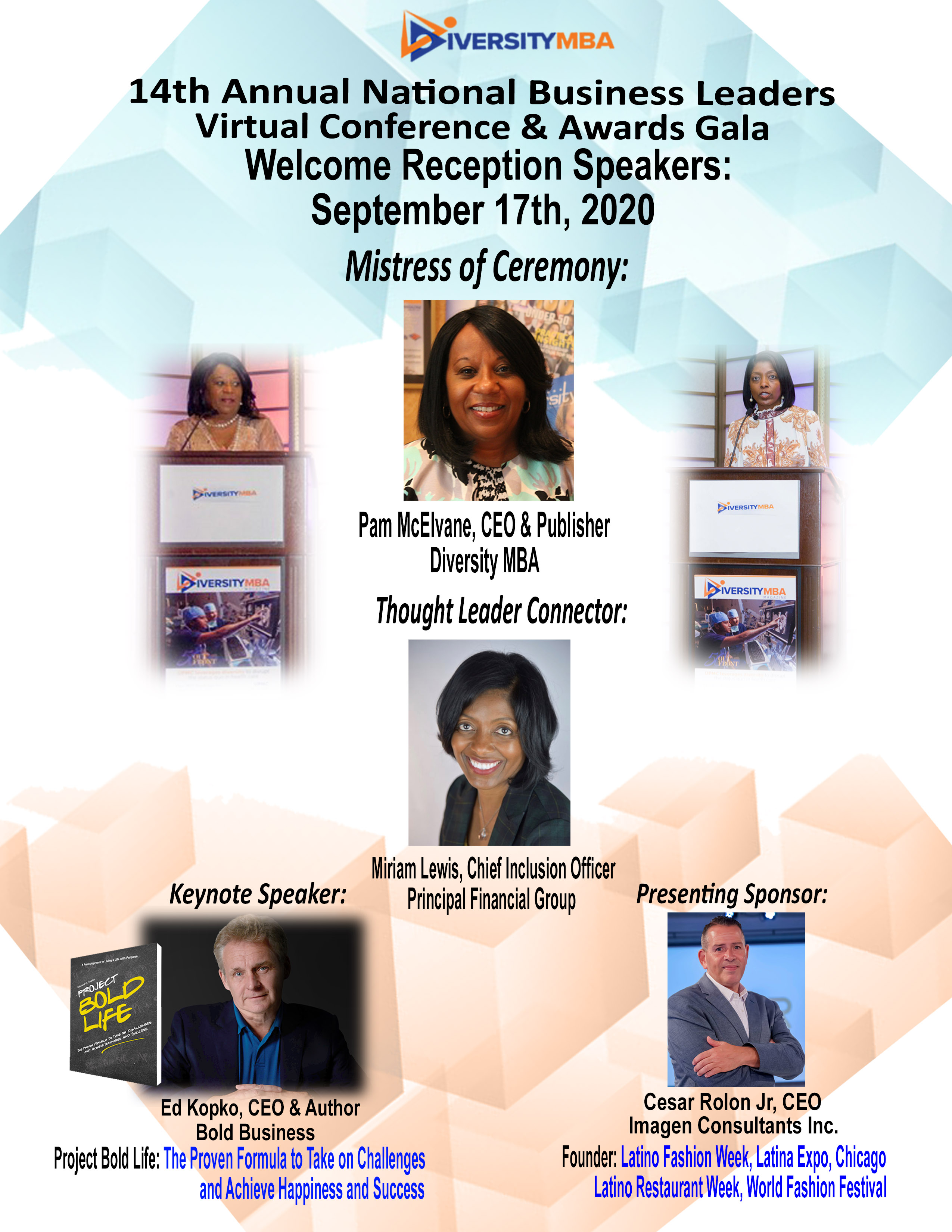 Welcome Reception Speakers- promo